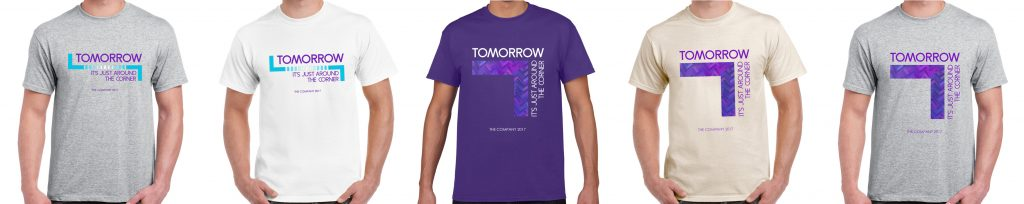 TOMORROW t-shirts banner